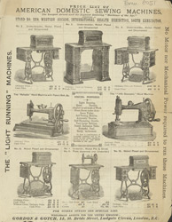 Advert for the American Domestic Sewing Machine Company 8051